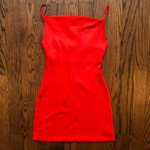 Red Cowl Neck Slip Dress (Brand New)